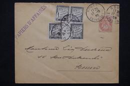 FRANCE - Taxes De Rouen Sur Enveloppe Papiers D 'affaires Affranchie Par Type Blanc 3cts En 1908 - L 23201 - Marcophilie (Lettres)