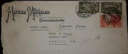 O) 1934 MEXICO, INDIAN ARCHER 20c-IMPRESORA DE HACIENDA DE MEXICO, SYMBOLICAL OF FLIGHT 30c-SCT C69, HOTEL MORALES FROM - Mexico