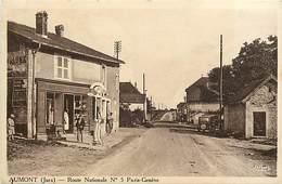 Dpts Div.-ref-AG176- Jura - Aumont - Route Nationale N°5 - Paris Genève - Eppicerie - Pompe A Essence - Magasins - - France