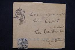 FRANCE - Bande Journal De Paris ( Illustration à La Main ) Pour La Bourboule, Affranchissement Type Blanc - L 23202 - Marcophilie (Lettres)