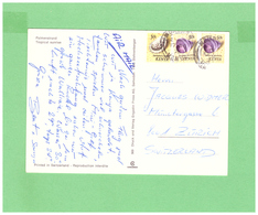 1976 KENIA AIR MAIL POSTCARD WITH 3 STAMPS TO SWISS - Kenia (1963-...)