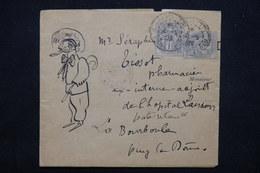 FRANCE - Bande Journal De Paris ( Illustration à La Main ) Pour La Bourboule 1903 ,affranchissement Type Blanc - L 23203 - Marcophilie (Lettres)