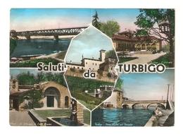 CT--02787-- SALUTI DA TURBIGO ( MILANO )- 5 VEDUTINE - VIAGGIATA 1959 - Italia