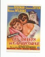 Affiche Sur Carte Les Amants Du Capricorne ALFRED HITCHCOCK - Affiches Sur Carte