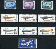 BULGARIE - PA N° 70 A 72 + 143 A 148 + 152 - TOUS * * - SUP - Poste Aérienne