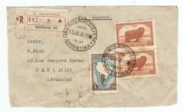 ARGENTINA ARGENTINE DEVANT DE LETTRE RECOMMANDÉE EXTERIOR BUENOS AIRES 13 JUILLET 1938 → PARIS FRANCE FRANCIA - Argentine
