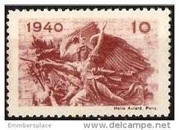 France Vignette - 1940 La Marseillaise Patriotic Poster Stamp - Military Heritage