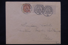 FRANCE / ALLEMAGNE - Affranchissement De Zweibrucken Sur Type Blanc En 1919 Pour Poitiers - L 23205 - Marcophilie (Lettres)