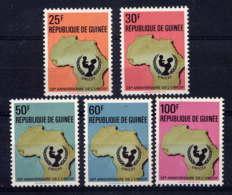 GUINEE - 446/450 ** - 25è ANNIVERSAIRE DE L'UNICEF - Guinée (1958-...)