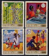 GUINEE - 406/409 ** - 50è ANNIVERSAIRE DE L'O.I.T. - Guinée (1958-...)