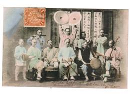 CHINE Musiciens 1906 .Timbre, Cachet . Envoi De  Chine à Brest - Chine