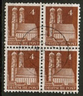 GERMANY  Scott # 635 VF USED BLOCK Of 4 (Stamp Scan # 453) - [7] Federal Republic