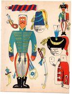 Découpage En Carton, Personnage Humoristique. Editions Mondiales, L'Intrépide. Le Hussard. - Découpis