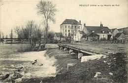 Dpts Div.-ref-AG170- Indre - Reuilly - Le Moulin Du Gué - Moulin A Eau - Moulins A Eau - Carte Bon Etat - - France