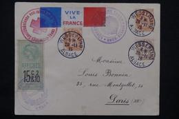 FRANCE - Enveloppe Patriotique De Wesserling En 1915 Pour La France,voir Différents Cachets , Vignette Au Dos - L 23209 - Marcophilie (Lettres)
