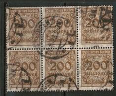 GERMANY  Scott # 291 F-VF USED BLOCK Of 6 (Stamp Scan # 453) - Germany
