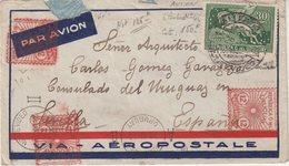 "URUGUAY : PA . VIA AEROPOSTALE . DE "" MONTEVIDEO "" . 1933 . - Uruguay"