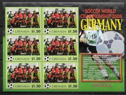GRENADE Feuillet  N°  ( Angola )  * *  Cup 2006  Football  Soccer Fussball - 2006 – Allemagne