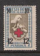 EESTI  Estonia Estland 1926 Red Cross Overprint 61 Unused Hinged - Estonie