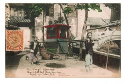 CHINE Porteurs  1906 SEDAN Chair.Timbre, Cachet . Envoi De  Chine à Brest - Chine
