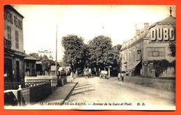 """CPA 52 Bourbonne Les Bains """" Avenue De La Gare Et Pont """" - Bourbonne Les Bains"""