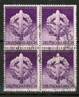 GERMANY  Scott # 528 VF USED BLOCK Of 4 (Stamp Scan # 453) - Germany