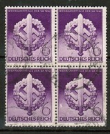 GERMANY  Scott # 528 VF USED BLOCK Of 4 (Stamp Scan # 453) - Used Stamps