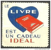 France Vignette - Publicity Poster Stamp For Books As Gifts Unused - Commemorative Labels