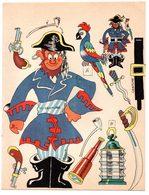 Découpage En Carton, Personnage Humoristique. Editions Mondiales, L'Intrépide. Le Corsaire. - Victorian Die-cuts