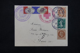 FRANCE - Enveloppe Patriotique De Wesserling En 1915 Pour La France,voir Différents Cachets , Vignette Au Dos - L 23210 - Marcophilie (Lettres)