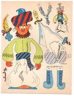 Découpage En Carton, Personnage Humoristique. Editions Mondiales, L'Intrépide. Le Sultan. - Découpis