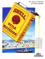"""PUB HUILE  """" SHELL """"   1930  ( 3 ) - Transportation"""