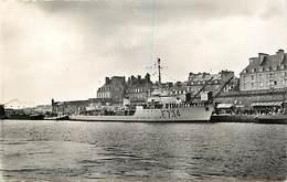 Dpts Div.-ref-AG166- Ille Et Vilaine - Saint Malo - St Malo - Escorteur F734 Dans Bassin Vauban - Marine Militaire - - Saint Malo