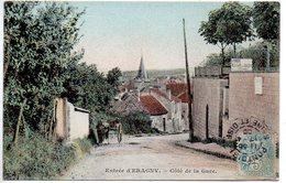 Entrée D' Eragny : Côté De La Gare (Superbe Carte Colorisée) - Eragny