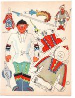 Découpage En Carton, Personnage Humoristique. Editions Mondiales, L'Intrépide. L'esquimau. - Victorian Die-cuts