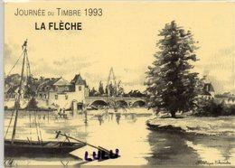 DEPT 72 : La Flèche Vue Sur Le Loir Par Frédérique Echavidre , Journée Du Timbre 1993 - La Fleche