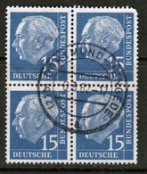 GERMANY  Scott # 709 VF USED BLOCK Of 4 (Stamp Scan # 453) - [7] Federal Republic