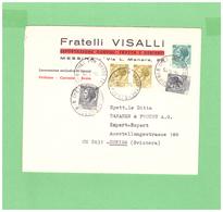 1975 ITALIA VIAGGIATA X LA SVIZZERA PUBBLICITARIA AFFRANCATA CON 5 FRANCOBOLLI - 6. 1946-.. Repubblica