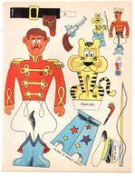 Découpage En Carton, Personnage Humoristique. Editions Mondiales, L'Intrépide. Le Dompteur. - Découpis