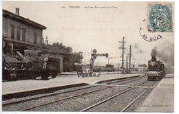 Chasse : Arrivée D'un Train En Gare (vue Intérieure) - France