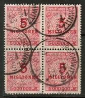 GERMANY  Scott # 285 VF USED BLOCK Of 4 (Stamp Scan # 453) - Germany