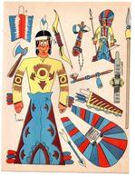 Découpage En Carton, Personnage Humoristique. Editions Mondiales, L'Intrépide. L'indien. - Découpis