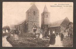 - 4269 - Environs De CARTERET ( 50 Manche ) Moittiers D'Alonne - Les Deux Eglise ( G.F. ) Cimetière , Coiffe Normande - France