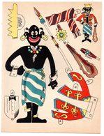 Découpage En Carton, Personnage Humoristique. Editions Mondiales, L'Intrépide. Le Roi Noir. - Victorian Die-cuts