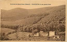 Dpts Div.-ref-AG163- Herault - Chapertis Et Ses Grands Bois - Environs De Saint Pons - St Pons - Carte Bon Etat - - France