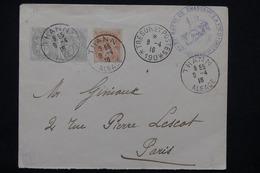 FRANCE - Affranchissement  Type Blancs De Thann Sur Enveloppe En 1916 Pour Paris, Cachet De SP 190 - L 23212 - Marcophilie (Lettres)