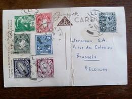 POSTkaart Met Serie Postzegels      EIRE  ENGELAND - Altri