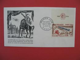 FDC 1964  Ouverture De Philatec Paris 1964  Cachet Paris     à Voir - 1960-1969