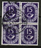 GERMANY  Scott # 676 VF USED BLOCK Of 4 (Stamp Scan # 453) - [7] Federal Republic