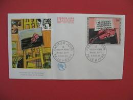 """FDC 1964  Composition Sur """" Le Violon Rouge """" D'après R. Dufy Par H. Renaud  Cachet Le Havre    à Voir - 1960-1969"""